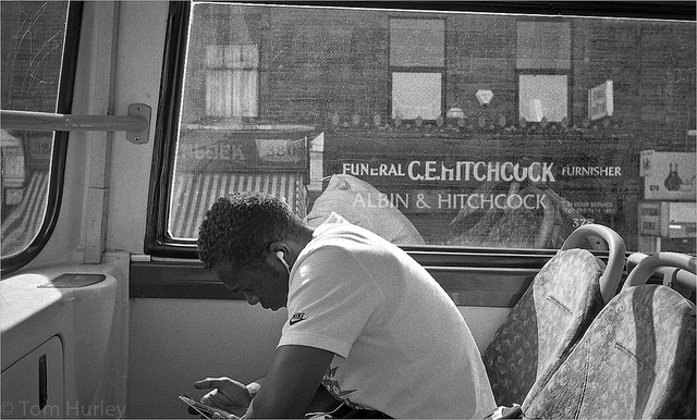 On the bus, by Tom Hurley