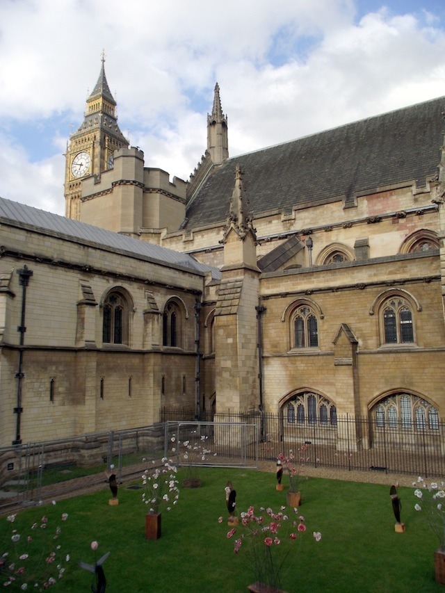 The flower garden marks the beginning of a summer of Arts in Parliament