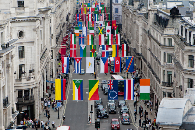 In Pictures: Regent Street Welcomes The World Olympic Nations