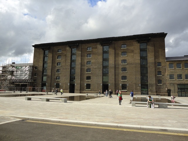 The Granary Building in its new landscaping.