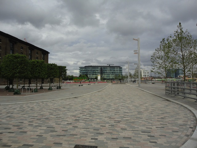 Looking east towards Kings Place.