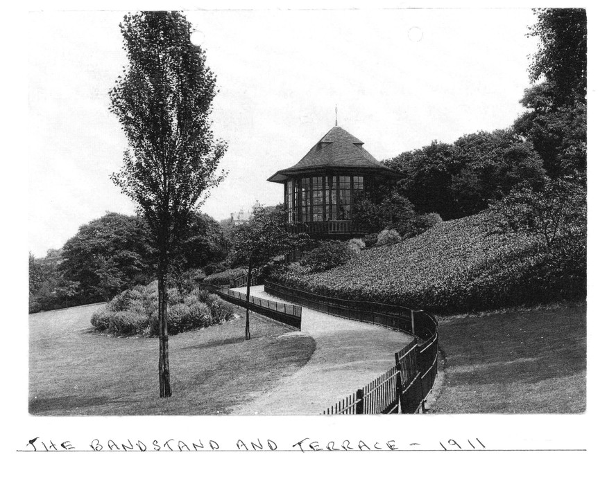 Bandstand and terrace, 1911