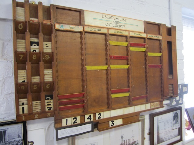 The escapee board, which listed out prisoners thought to be an escape risk.