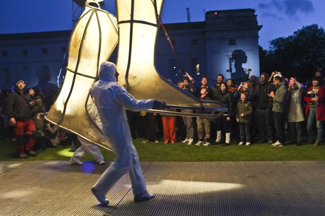 Prometheus Awakes by Graeae and La Fura dels Baus at National Maritime Museum