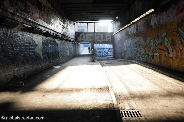 View of Leake Street.