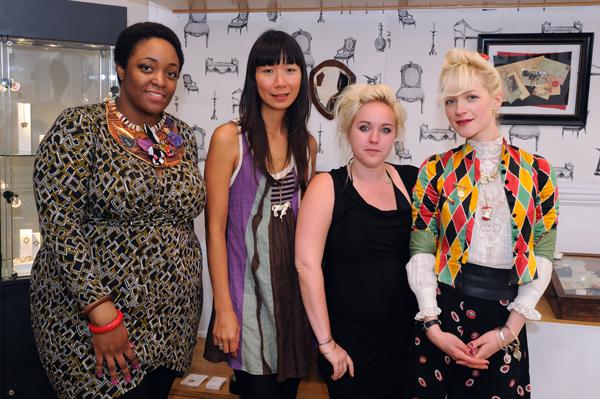 Pop Up Shop Designers Hayleigh-Joy Rose (POW), Suree Wan (The Jewellery Guild), Myia Bonner, and Jessica de Lotz