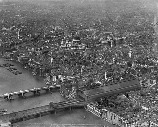 St Paul's Cathedral and the City of London, London, from the south-east, April 1921