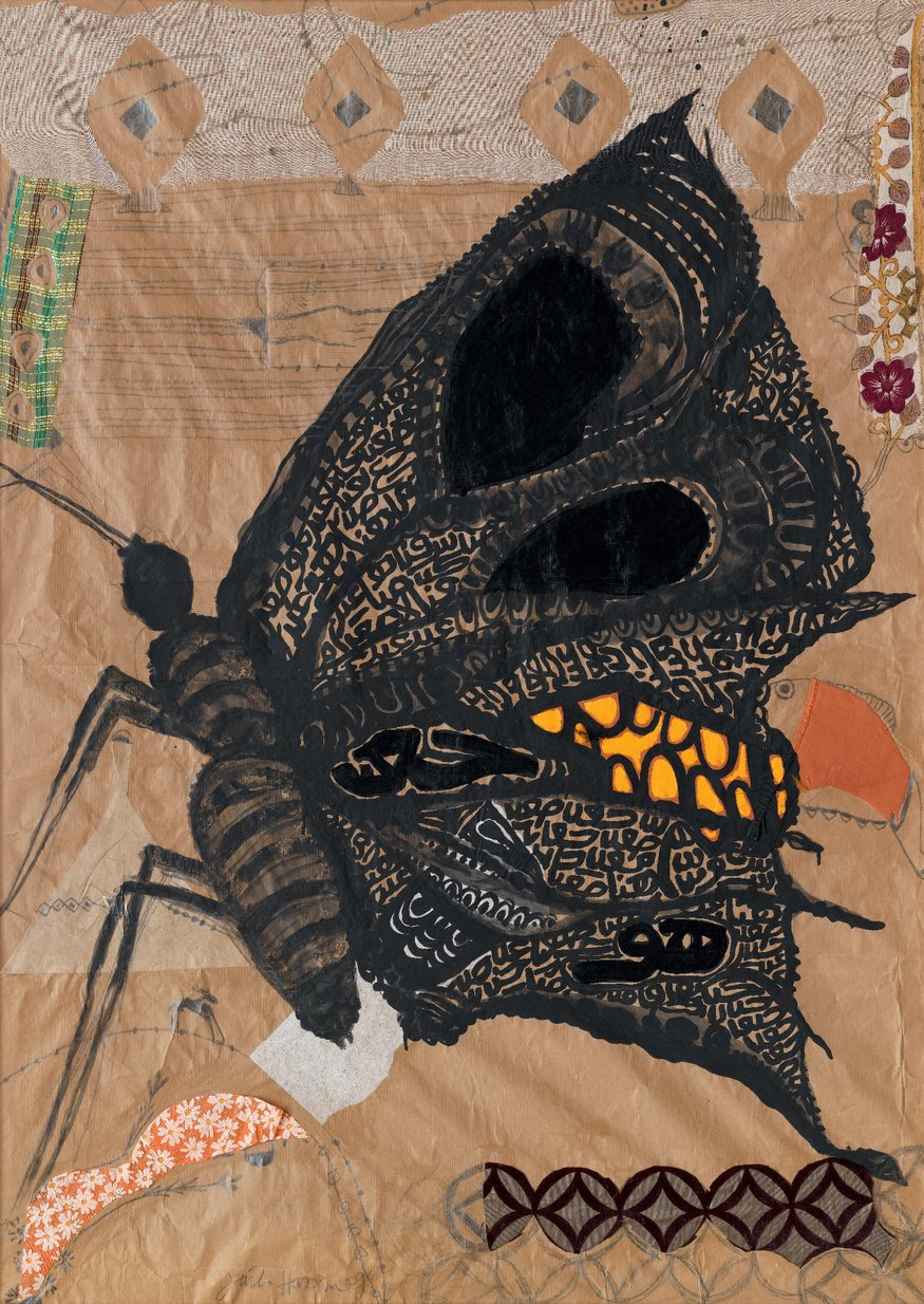 Fathi Hassan   Butterfly  Mixed media  138 x 98 cm  Photo courtesy John Bodkin