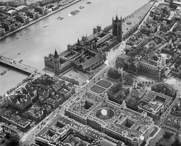 The Houses of Parliament and Parliament Square, Westminster, June 1926