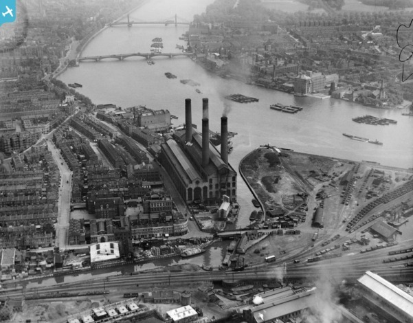 The Lots Road Power Station, Chelsea, 1921