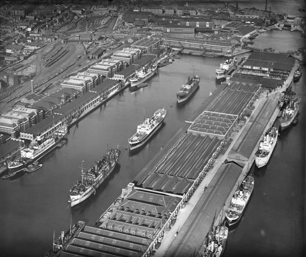 West India Dock (Import), Canary Wharf, 1921