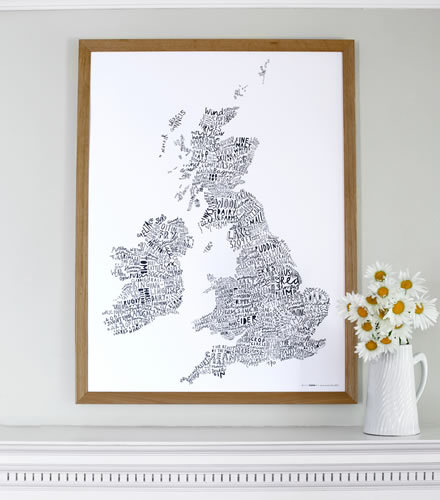 World Map of the British Isles