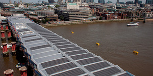 Blackfriars Station Roof Reaches Halfway Point