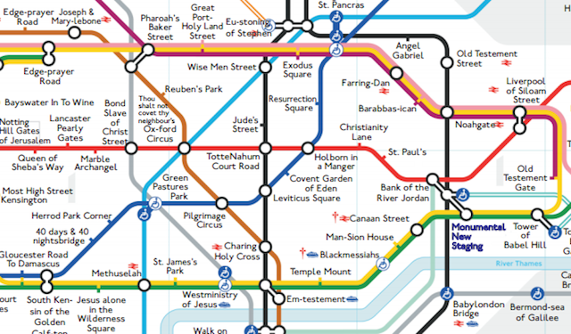 Printable London Subway Map.Alternative Tube Maps Biblical Underground Londonist
