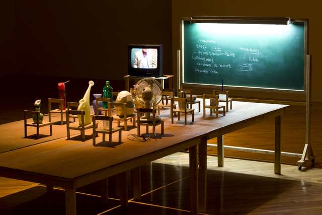 Installation view at Artsonje Center of 'Objects Being Taught They are Nothing but Tools'. Courtesy of the artist and Artsonje Center, Seoul. © The artist 2012. Photo: Park Myung Rae.