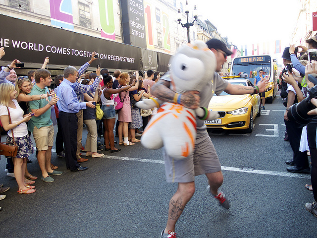 Torch Relay arrives on Regent Street by Ania Mendrek