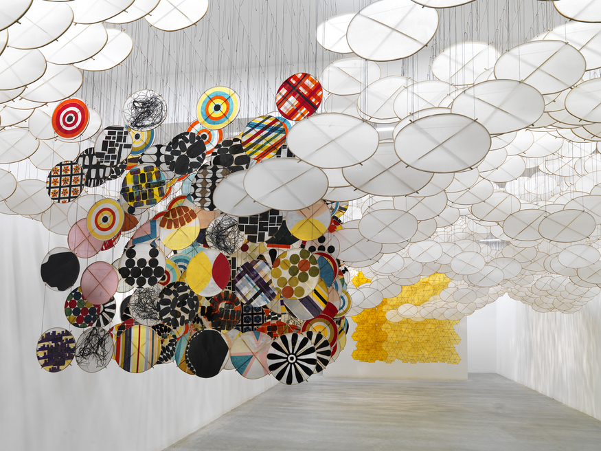 Jacob Hashimoto, The Other Sun (installation view). Courtesy Ronchini gallery.