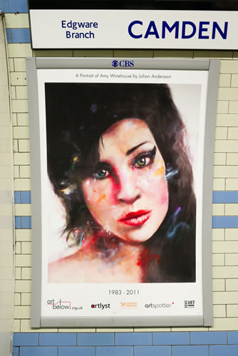 In Pictures: New Amy Winehouse Tribute Poster @ Camden Town Tube Station