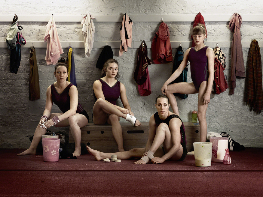 Women's Gymnastics team, Photographed by Anderson & Low, City of Liverpool Gymnastics Club © Anderson & Low – National Portrait Gallery/BT Road to 2012 project
