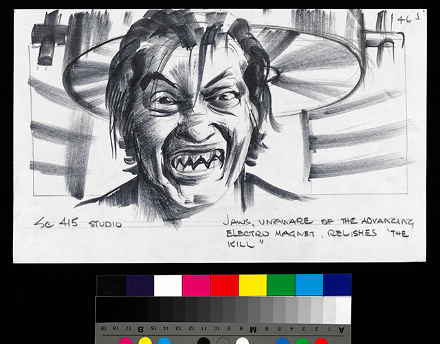 Jaws' teeth sketch from The Spy Who Loved Me © 1977 Danjaq, LLC and United Artists Corporation. All rights reserved