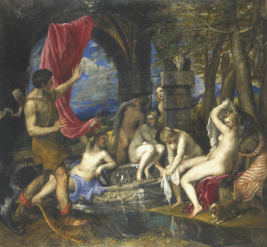 Titian, Diana and Actaeon. Photo © The National Gallery, London.