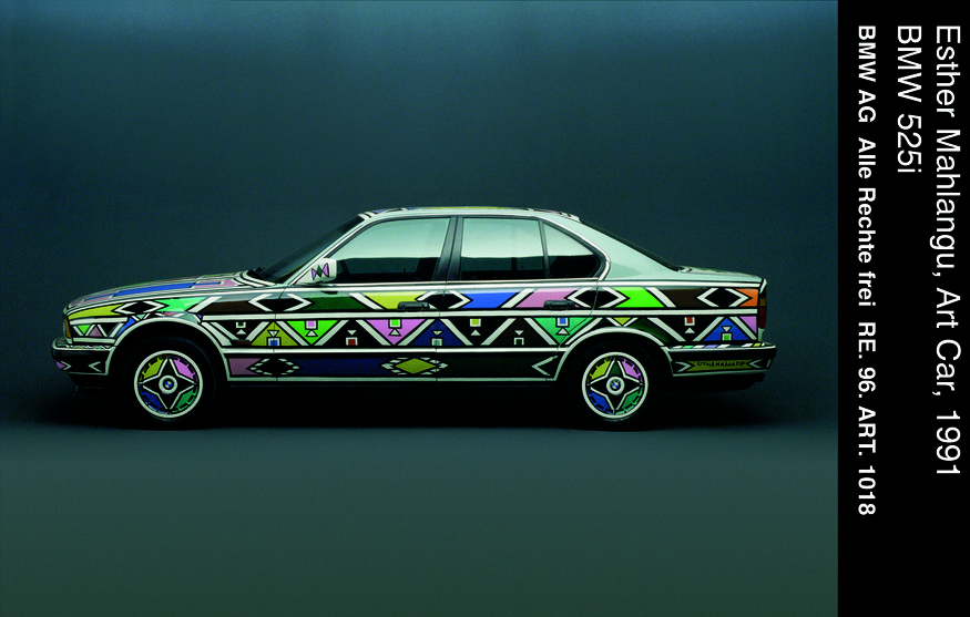 Esther Malangu, Art Car, BMW 525i
