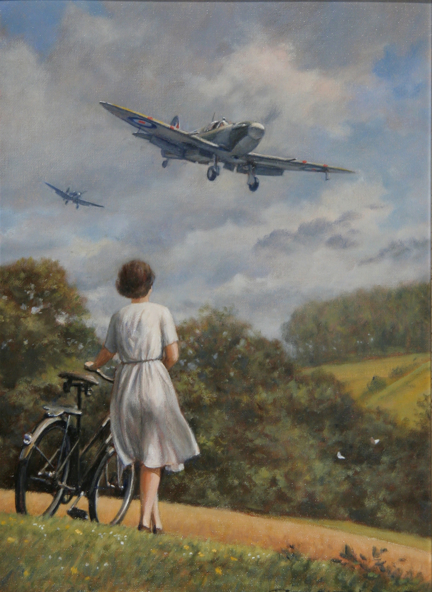 'Going Home' by Ronald Wong. Courtesy Guild of Aviation Artists.
