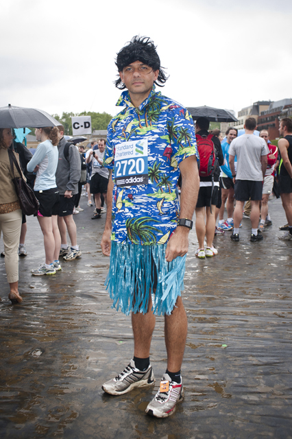 Participant dressed up as an Hawaiian.
