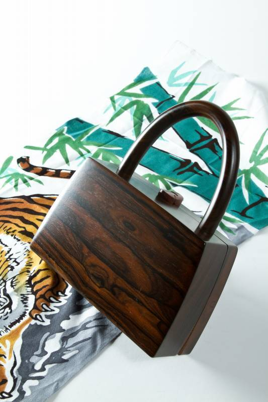 Music Box Inspired Wooden Handbags by Kumanodo
