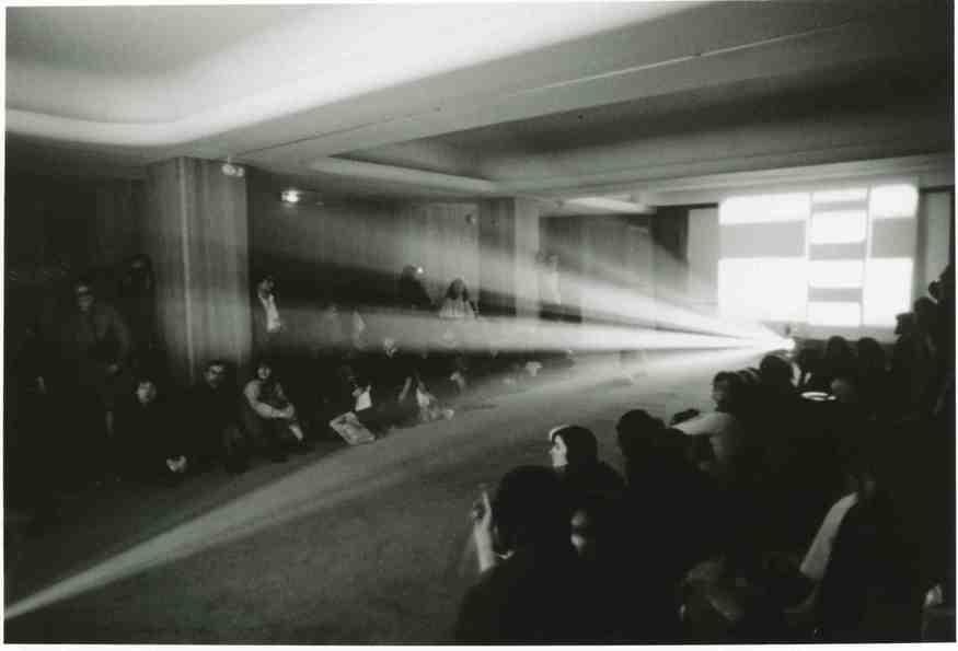 Lis Rhodes, Light Music, Paris 1975. © Lis Rhodes