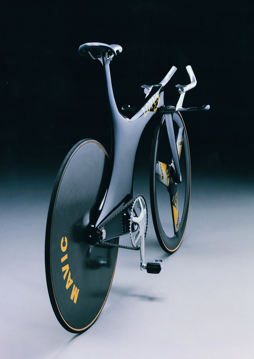 Lotus type 108 Olympic Pursuit bike, 1992. Courtesy Design Museum.