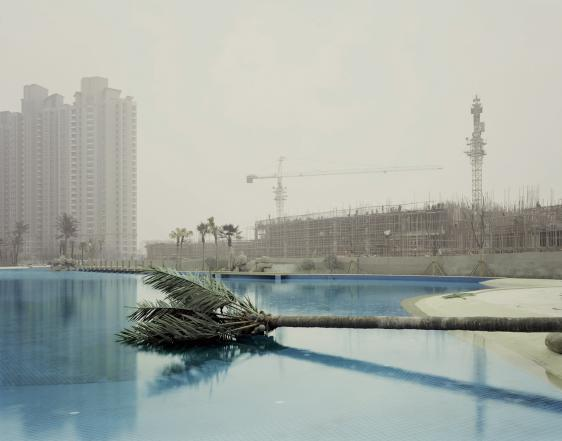 Nadav Kander, Metal Palm, Nanjing, Jiangsu. Courtesy Flowers Gallery.