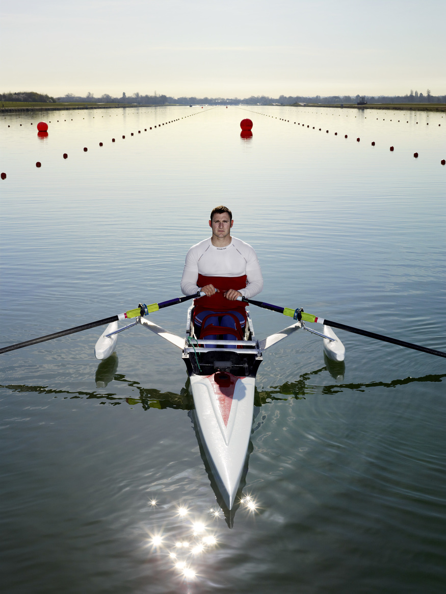 Tom Aggar, Photographed by Anderson & Low, Eton Dorney © Anderson & Low – National Portrait Gallery/BT Road to 2012 project