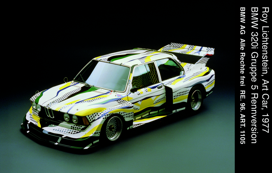 Roy Lichtenstein, Art Car, BMW 320i Gruppe 5 Rennversion.