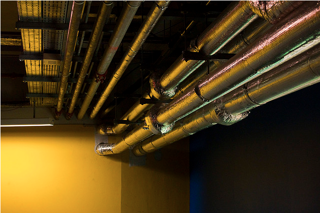 Yellow Pipes by Chris Kench