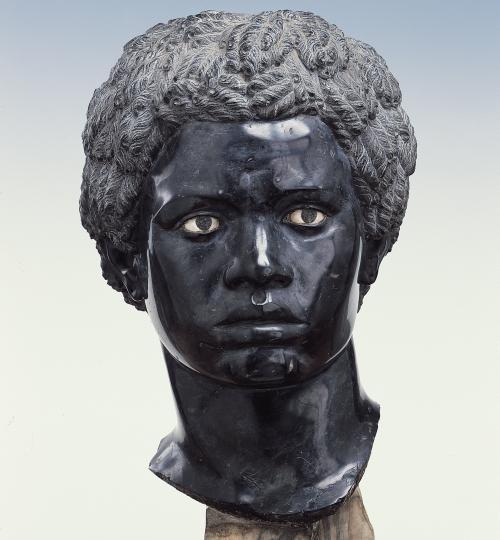 Nicolas Cordier (1567–1612) Bust of a black African, Rome, c. 1610. Black bigio morato marble and white marble; H. 34 cm. Dresden, Staatliche Kunstsammlungen, Skulpturensammlung