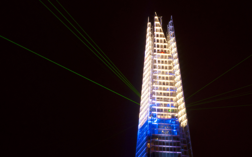 The top of the Shard.