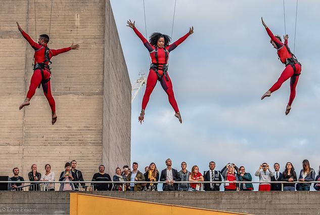More Speed Angels acrobatics on the South Bank / photo by Dave Pearce