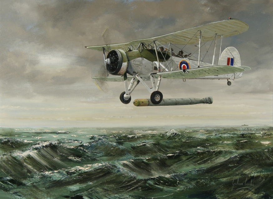 'Tinfish Release' by Graham Cooke. Courtesy Guild of Aviation Artists.
