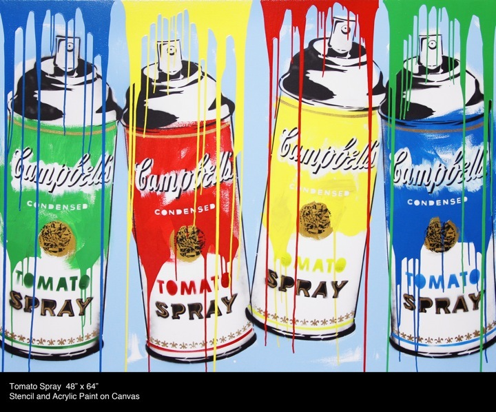 MR BRAINWASH, Tomato Spray, © Its A Wonderful World