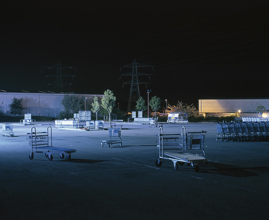 Trolleys in Car Park (CR0), William Eckersley. Courtesy Vegas Gallery.