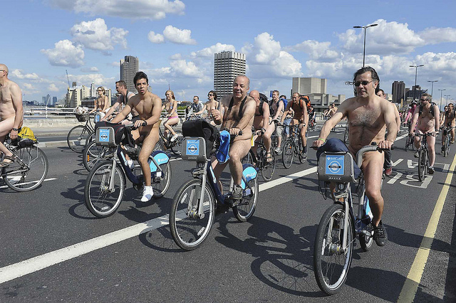 World Naked Bike Ride London, by Mike King Photo
