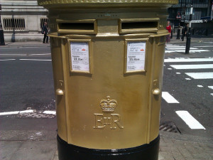 Find London's Golden Post Boxes