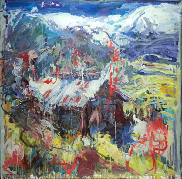 Catherine Goodwin, Blue Valley. Courtesy Marlborough Fine Art.