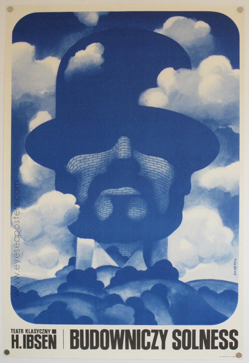 'Budowniczy Solness' by Waldemar Swierzy 1971. Courtesy Eye Sea Posters