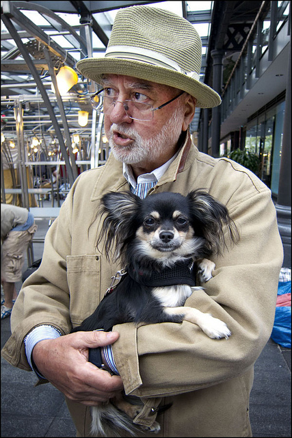 This gentleman has a similar look to his pooch, by World of Tim 2