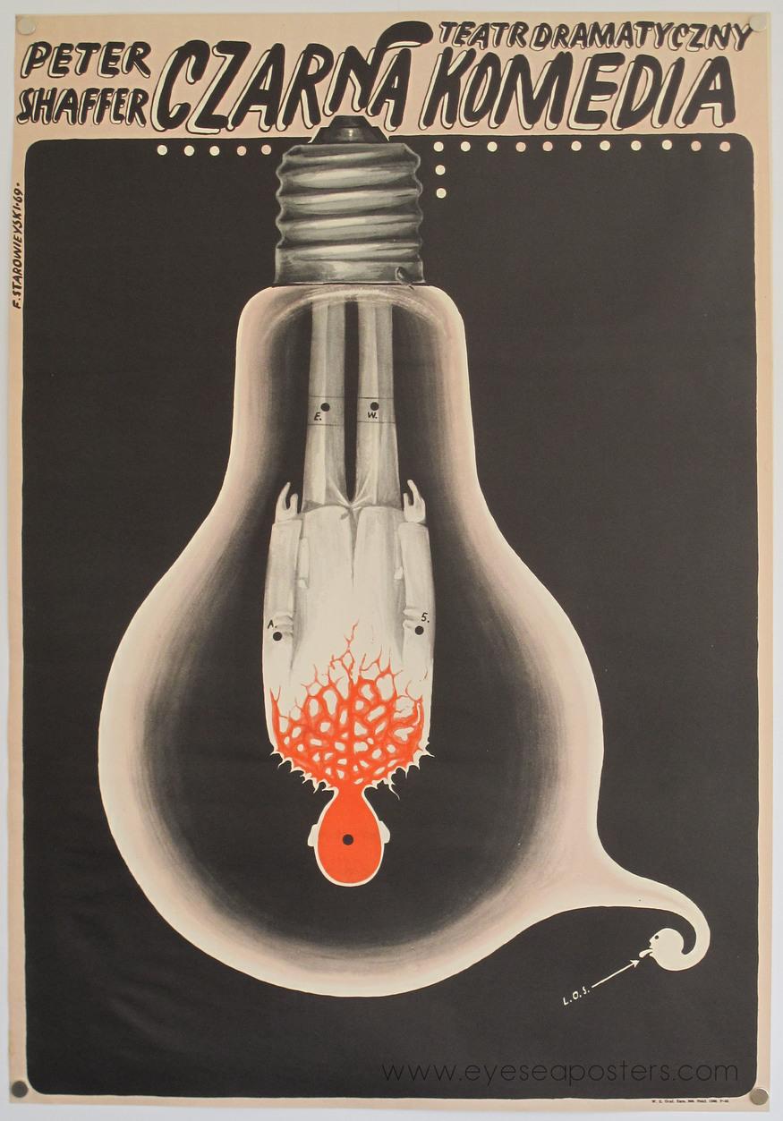 'Czarna Komedia (Black Comedy)' by Franciszek Starowieyski 1969. Courtesy Eye Sea Posters