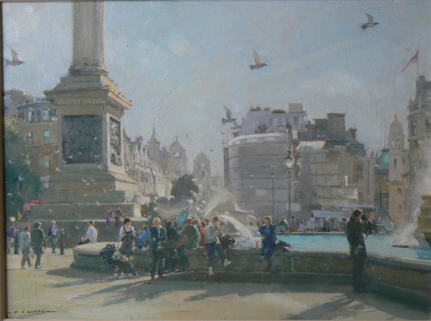 David Curtis, Midday Crowds - Trafalgar Square