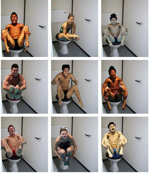 Images of gurnsome divers were an early internet hit, but then someone placed them on the toilet.