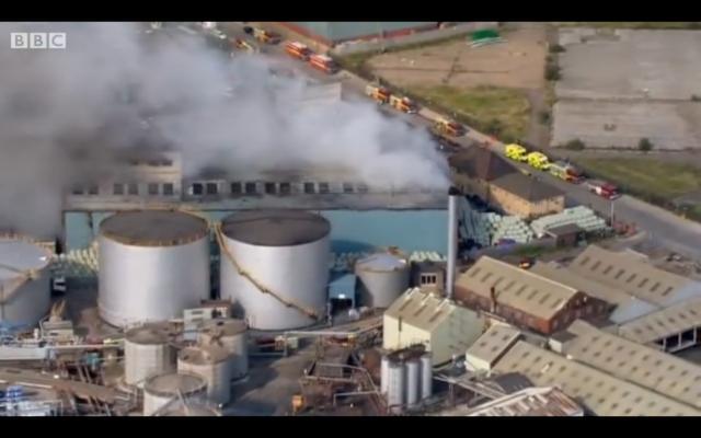Huge Fire Hits Dagenham Recycling Centre